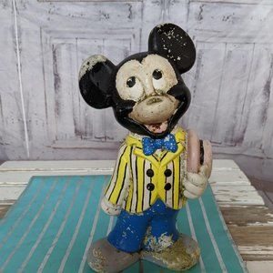 Vintage Walt Disney Mickey Mouse Handpainted 10″ T